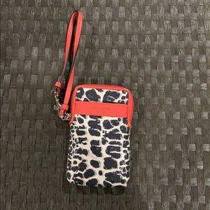 Coach Bags - Coach leopard zip around wristlet